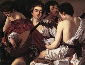 caravaggio_the-musicians_1595-96